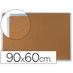 Pizarra corcho qconnect marco de aluminio 90x60 cm