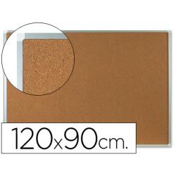 Pizarra corcho qconnect marco de aluminio 120x90 cm