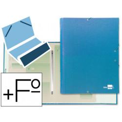 Carpeta clasificadora liderpapel 12 departamentos folio prolongado carton f