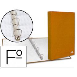 Carpeta de 4 anillas 25mm mixtas liderpapel folio carton forrado paper coat