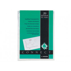 Toallitas qconnect absorbentes en paquetes de 20 unidades