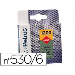 Grapas petrus nº 530/6 caja de 1200 grapas