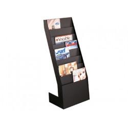 Expositor fastpaperflow de suelo 8 estantes negro