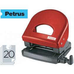 Taladrador petrus 62 color rojo capacidad 20 hojas