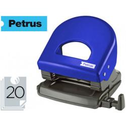Taladrador petrus 62 color azul capacidad 20 hojas