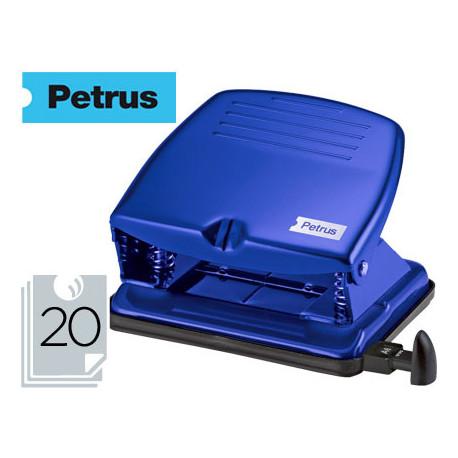 Taladrador petrus 65 color azul capacidad 20 hojas
