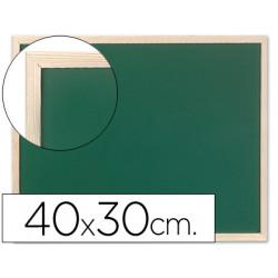 Pizarra verde qconnect marco de madera 40x30 cm sin repisa