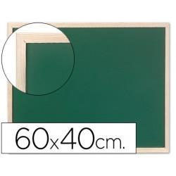 Pizarra verde qconnect marco de madera 60x40 cm sin repisa