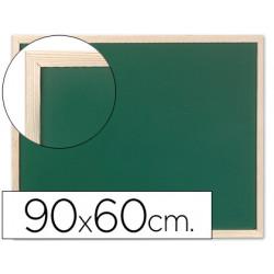 Pizarra verde qconnect marco de madera 90x60 sin repisa
