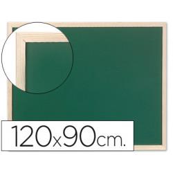 Pizarra verde qconnect marco de madera 120x90 cm sin repisa