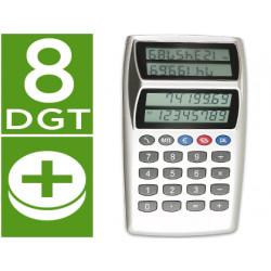 Calculadora euro p884 cfd sobremesa doble pantalla