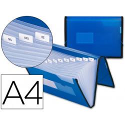 Carpeta liderpapel clasificador fuelle 32452 polipropileno din a4 azul con