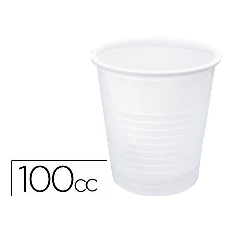 Vaso de plastico blanco 100cc paquete de 50