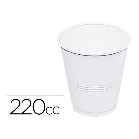 Vaso de plastico blanco 220 cc paquete 100