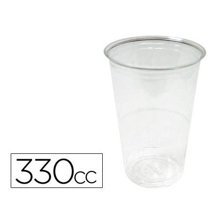Vaso de plastico transparente 330cc paquete de 50