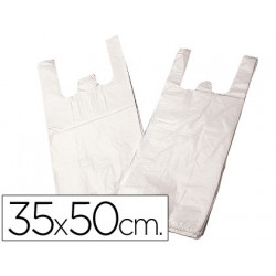 Bolsa plastico camiseta 35x50 cm paquete 200 12 micras
