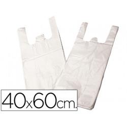 Bolsa plastico camiseta 40x60 cm paquete 200 16 micras