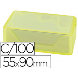 Tarjetas de visitas liderpapel 90x55mm blanca 250g/m2 caja de 100