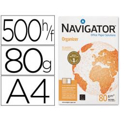 Papel fotocopiadora navigator din a4 80 gramos 4 taladros papel multiuso i