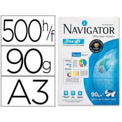Papel fotocopiadora navigator din a3 90 gramos papel multiuso inkjet y las