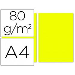 Papel color liderpapel a4 80g/m2 limon paquete de 100