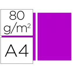 Papel color liderpapel a4 80g/m2 fucsia paquete de 100