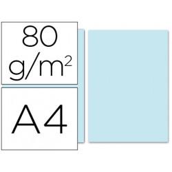 Papel color liderpapel a4 80g/m2 celeste paquete de 100