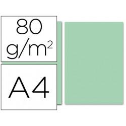 Papel color liderpapel a4 80g/m2 verde paquete de 100