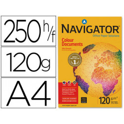 Papel fotocopiadora navigator din a4 120 gramos paquete de 250 hojas
