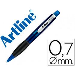 Portaminas artline retractil sujecion de caucho translucido 07 mm cuerpo