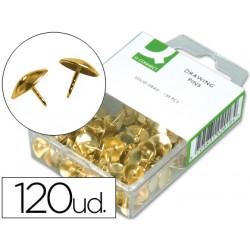 Chinchetas qconnect doradas caja de 120 unidades