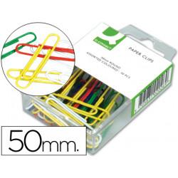 Clips colores qconnect 50 mm caja de 30 unidades colores surtidos