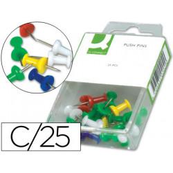 Señalizador de planos qconnect caja de 25 unidadescolores surtidos