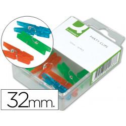 Pinza fantasia qconnect 32 mm caja de 10 unidades colores surtidos