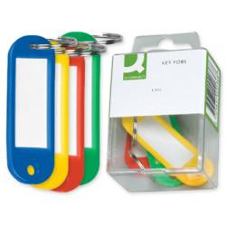 Llavero portaetiquetas qconnect caja de 6 unidades colores surtidos