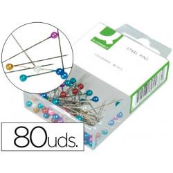 Agujas señalizadoras qconnect caja de 80 unidades colores surtidos