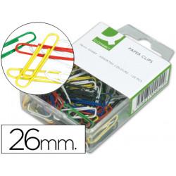 Clips colores qconnect 26 mm caja de 125 unidades