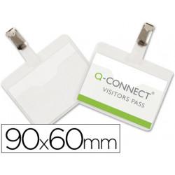 Identificador con pinza qconnect kf01560 60x90 mm con apertura superior