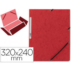 Carpeta qconnect gomas kf02165 carton similprespan solapas 320x243 mm roj