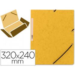 Carpeta qconnect gomas kf02166 carton similprespan solapas 320x243 mm ama