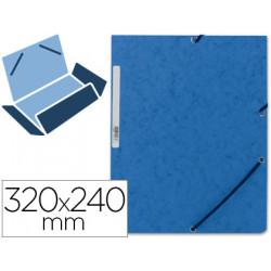 Carpeta qconnect gomas kf02167 carton similprespan solapas 320x243 mm azu