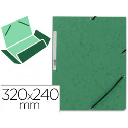 Carpeta qconnect gomas kf02168 carton similprespan solapas 320x243 mm ver