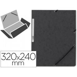 Carpeta qconnect gomas kf02169 carton similprespan solapas 320x243 mm neg