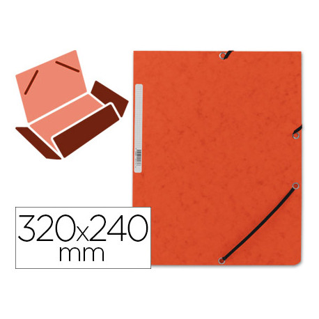 Carpeta qconnect gomas kf02170 carton similprespan solapas 320x243 mm nar