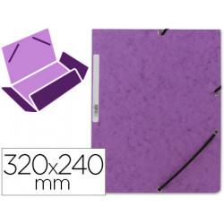 Carpeta qconnect gomas kf02171 carton similprespan solapas 320x243 mm vio