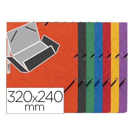 Carpeta qconnect gomas kf02174 carton similprespan solapas 320x243 mm sur