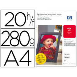 Papel hp fotografico premium p lus a4 20h 300gr/m2 cr672a
