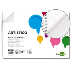 Bloc dibujo liderpapel artistico espiral 230x325mm 20 hojas 130g/m2 sin rec