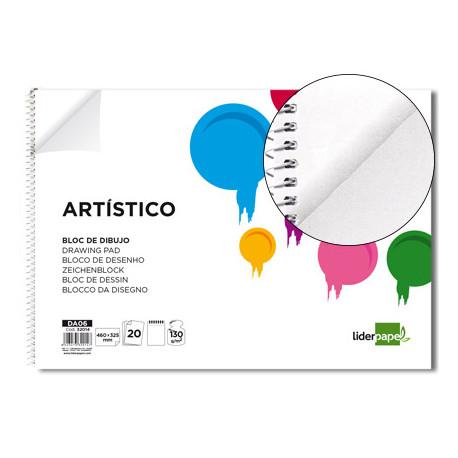 Bloc dibujo liderpapel artistico espiral 460x325mm 20 hojas 130g m2 sin rec