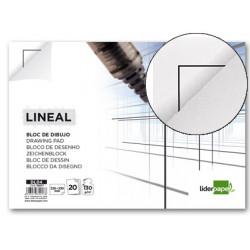 Bloc dibujo liderpapel lineal encolado 230x325mm 20 hojas 130g/m2 con recua